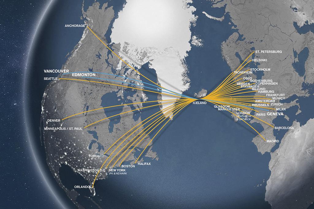 Réseau destinations Icelandair