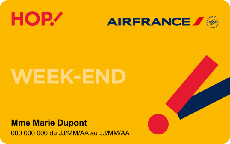 Carte Week-end HOP!