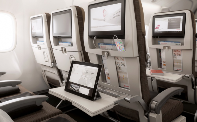 Siège Eco à bord du Boeing 777-300ER SWISS