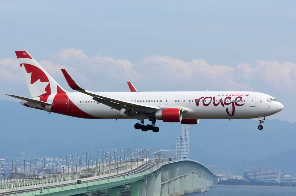 """Air Canada Rouge, B767-300, C-FMWU (18266033429)"" by lasta29 - Air Canada Rouge, B767-300, C-FMWU. Licensed under CC BY 2.0 via Wikimedia Commons."
