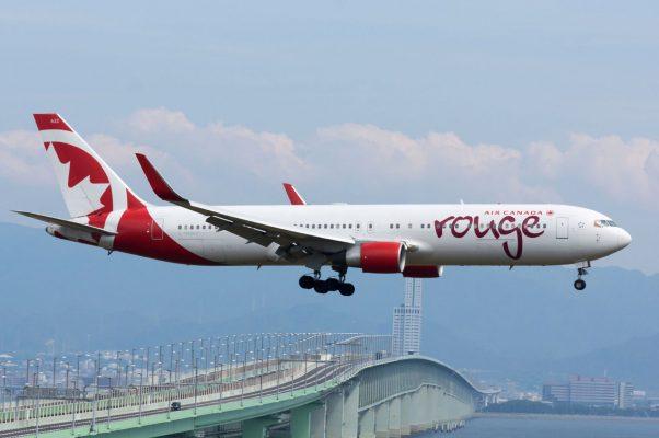 """Air Canada Rouge, B767-300, C-FMWU (18266033429)"" by lasta29 - Air Canada Rouge, B767-300, C-FMWU. Licensed under CC BY 2.0 via Wikimedia Commons."