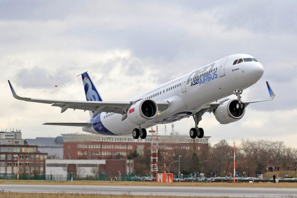 A321neo Airbus 1er décollage - Visuel : Airbus