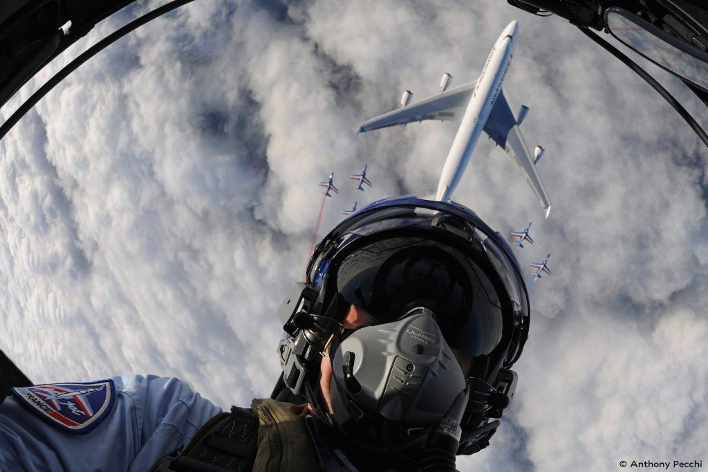 Selfie au dessus du Boeing 747-400 Air France en patrouille - Air France (c) Antony Pecchi