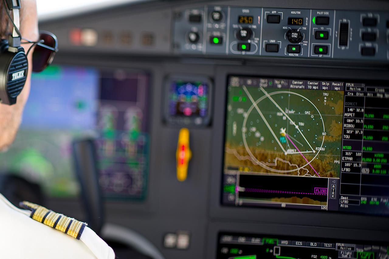 cockpit Falcon 2000LXS