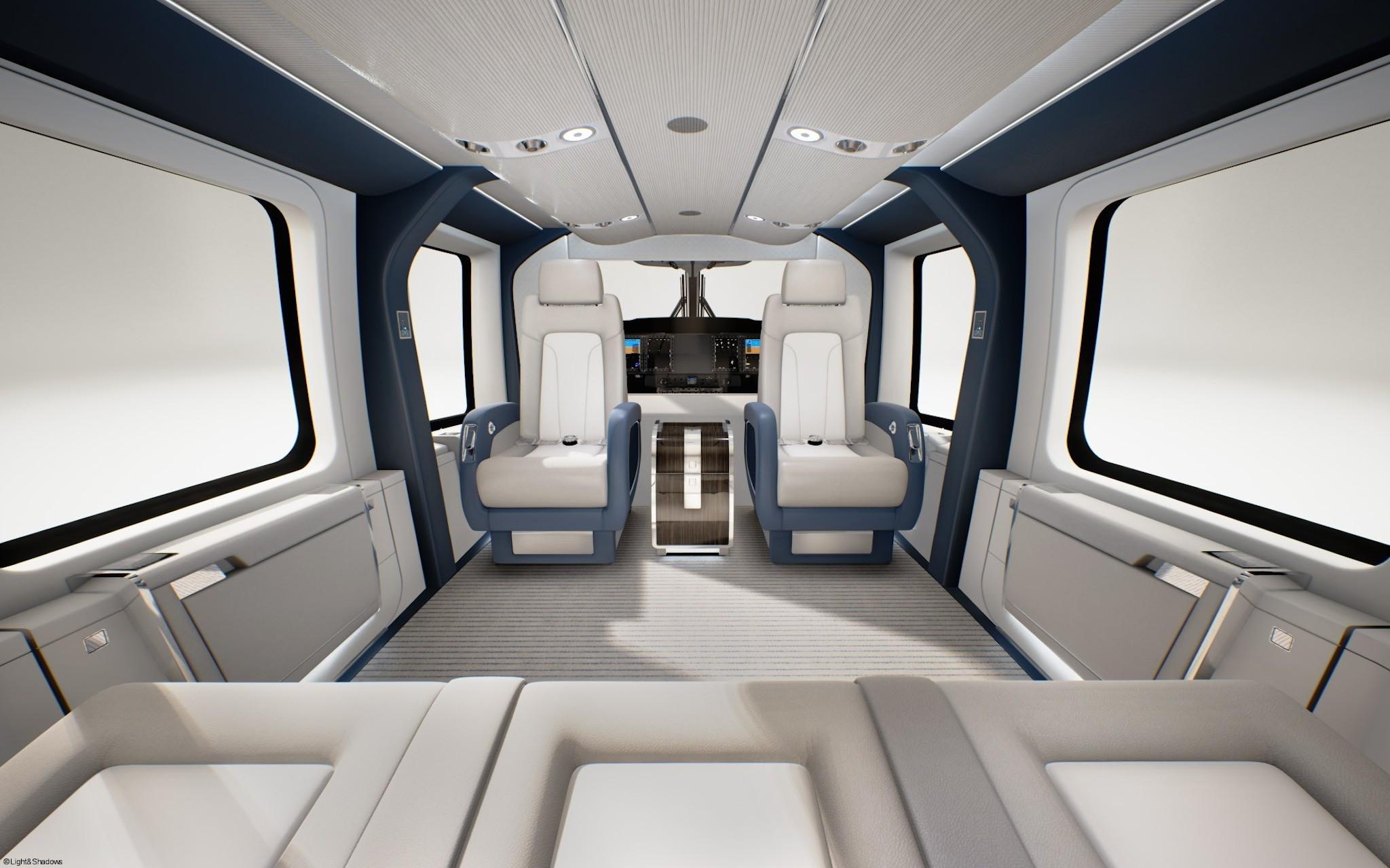 intérieur du H160 VIP - Airbus Helicopters
