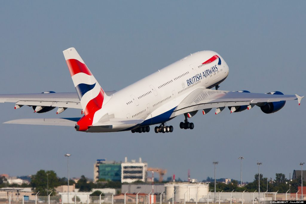 A380 British Airways G-XLEL