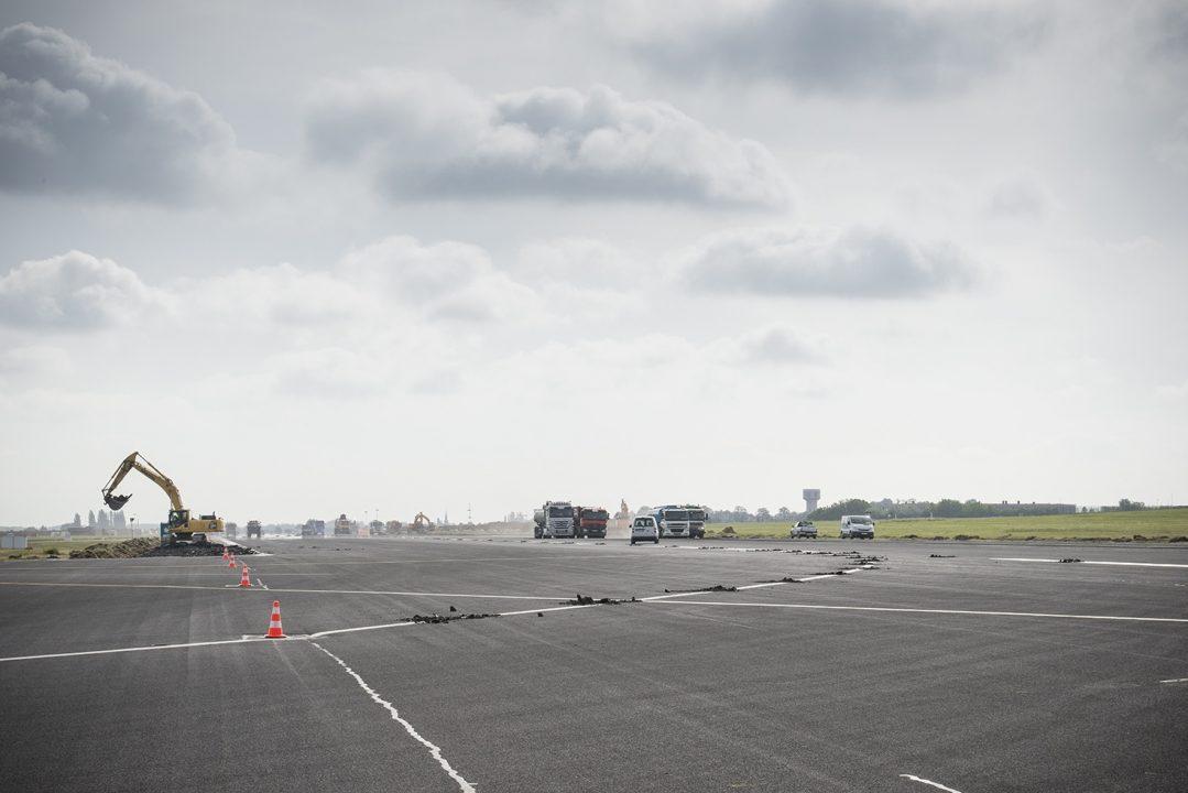 Rénovation de la piste 25L/07R par Brussels Airport