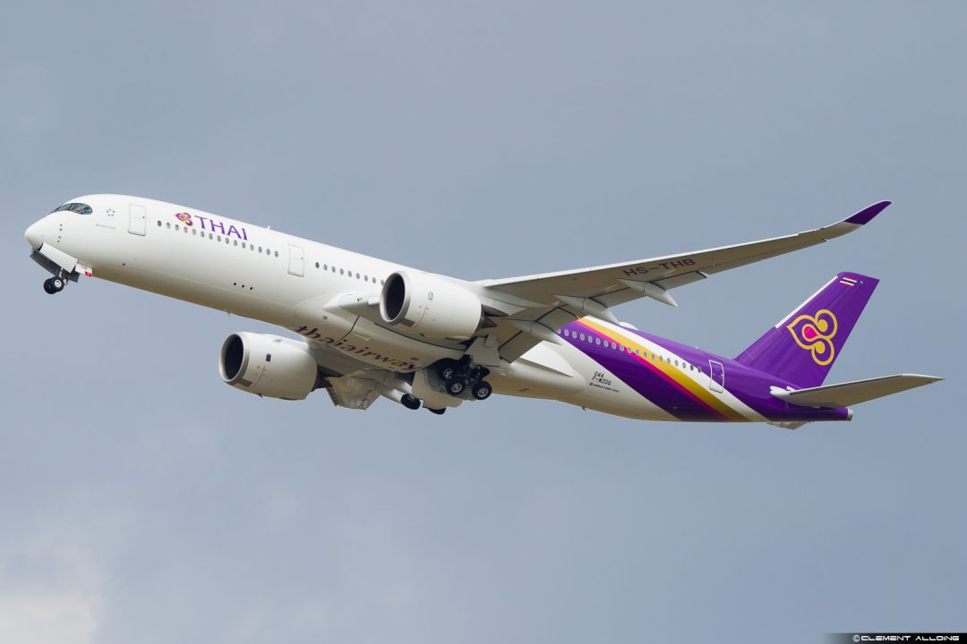 A350 Thai Airways à Toulouse / Clément Alloing