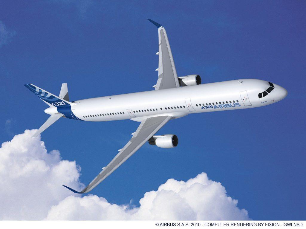 Airbus A321 avec moteur CFM et sharklets