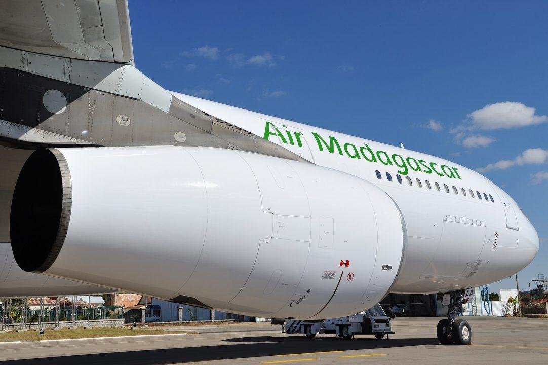 Airbus A340-300 de Air Madagascar sur le tarmac