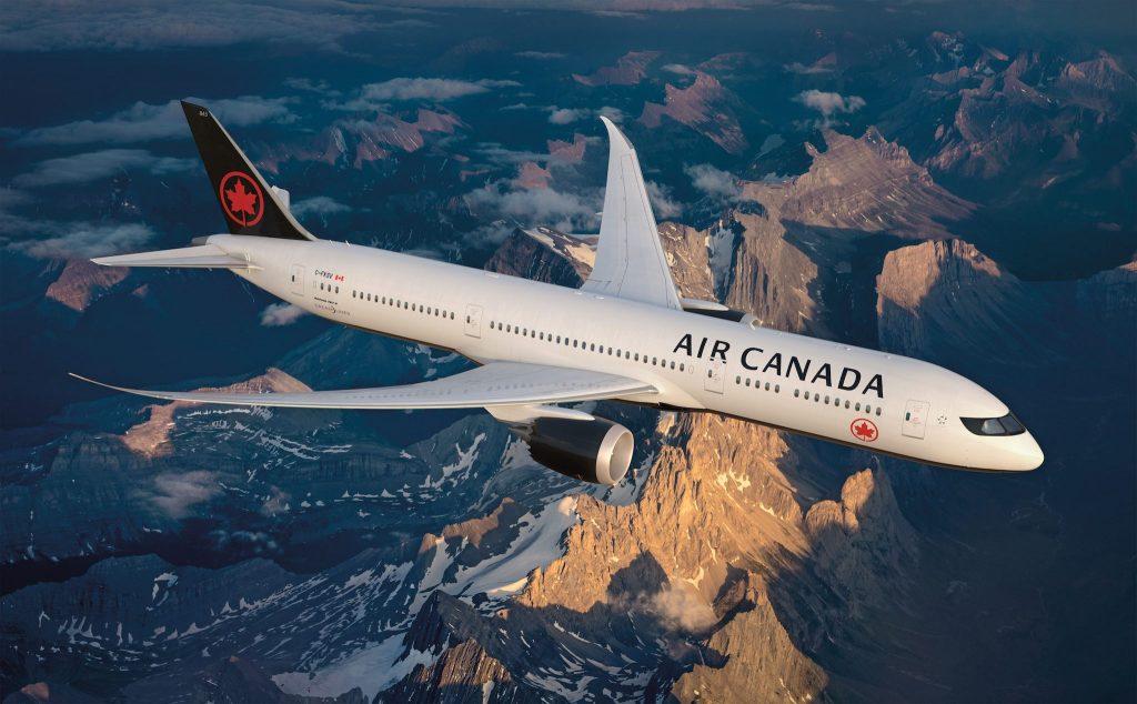 Nouvelle livrée sur le B787 Air Canada