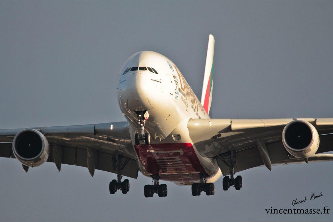 Airbus A380 EMIRATES en finale