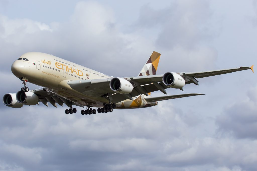 A380 Etihad Airways le 4 mars 2017 à LHR