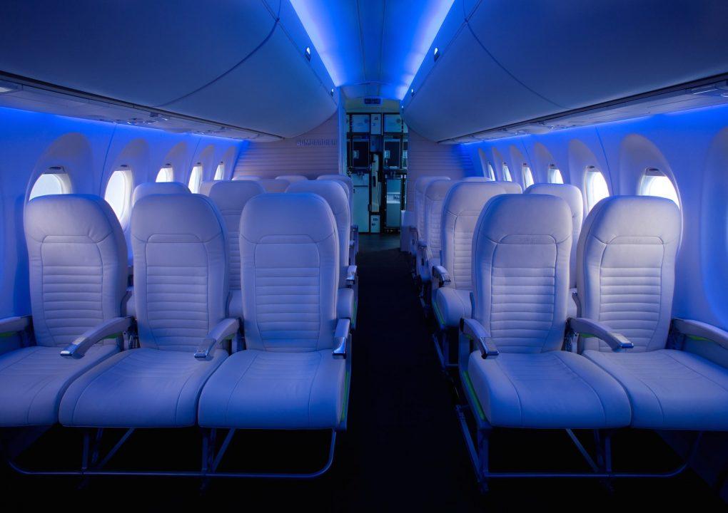 Cabine de l'avion CS300 de Bombardier