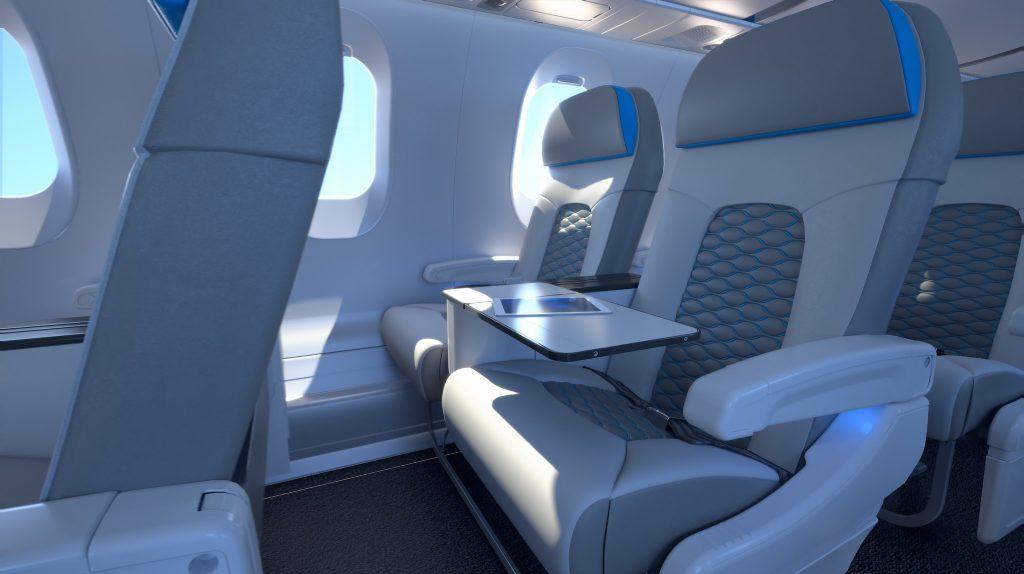 Nouvelle cabine des avions CRJ de Bombardier