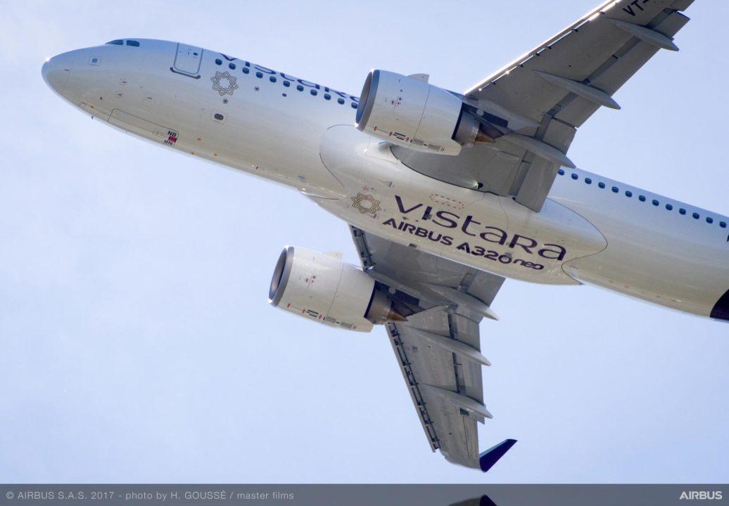 Vistara A320neo VT-TNB