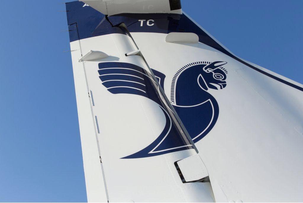 Le symbole de la compagnie sur la dérive d'un ATR72-600 Iran Air