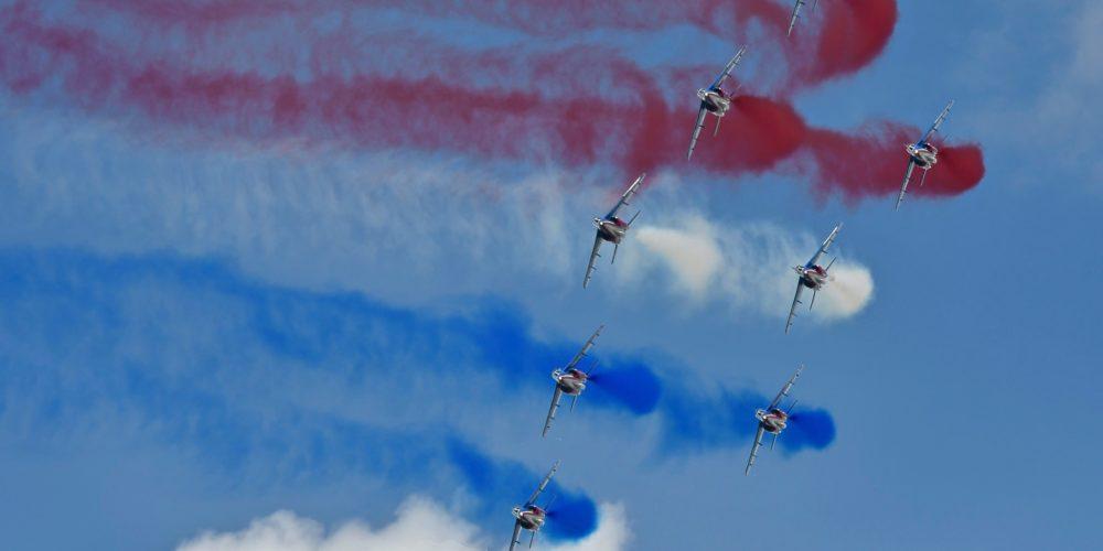 Patrouille de France en formation