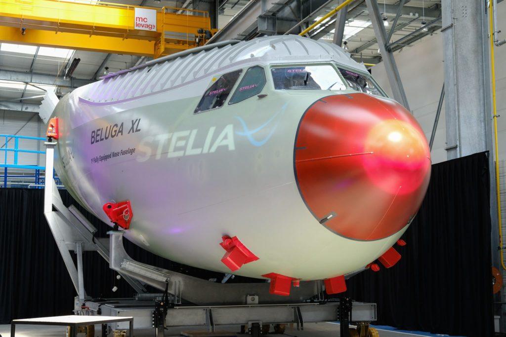 pointe avant du futur BelugaXL d'Airbus