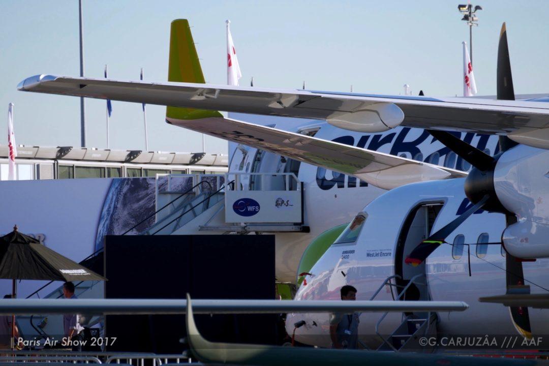Bombardier Q400 Westjet et SC300 airBaltic