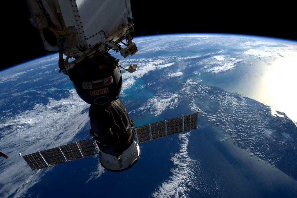 Vaisseau Soyuz ms-03 arrimé a l'ISS