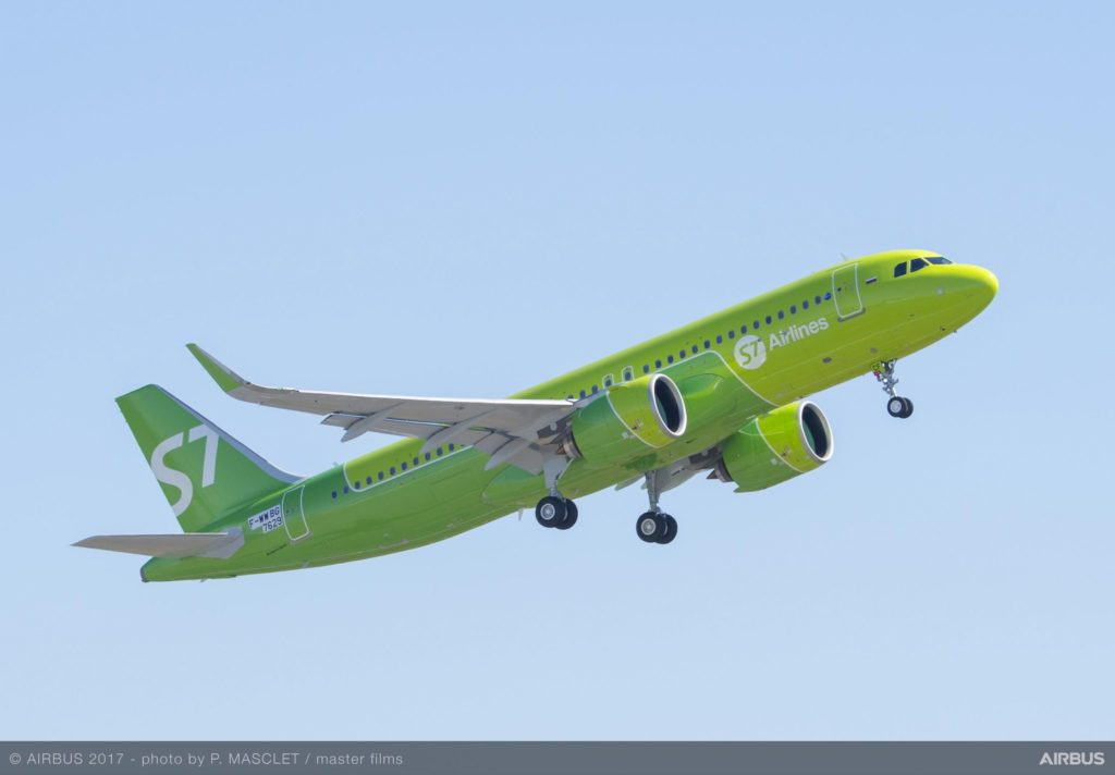 A320neo S7 Airlines au décollage