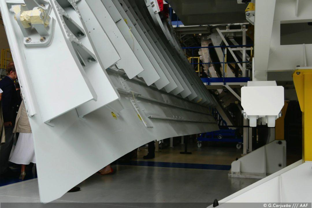 jupe non rivetée pour liaison avec la barque inférieure d'A330