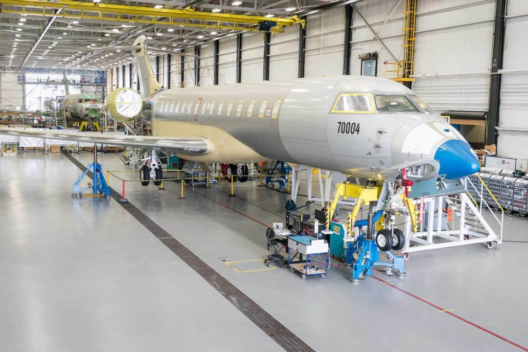 Le Jet d'affaires Global 7000