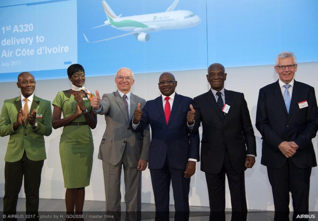 Cérémonie livraison Air Côte d'Ivoire
