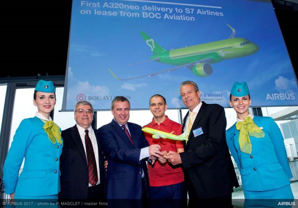 cérémonie de livraison A320neo S7 Airlines