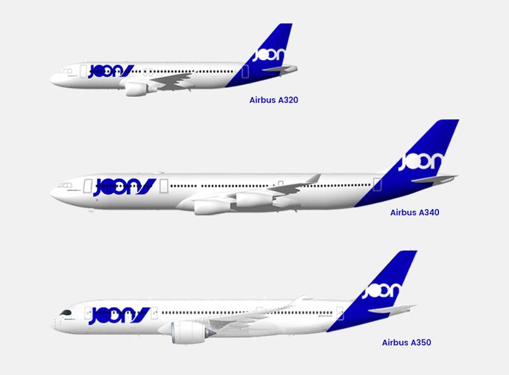 Le type d'avion de la flotte Joon à terme