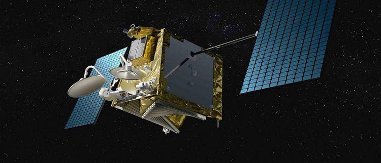 Vue 3D d'un satellite OneWeb d'Airbus dans l'espace