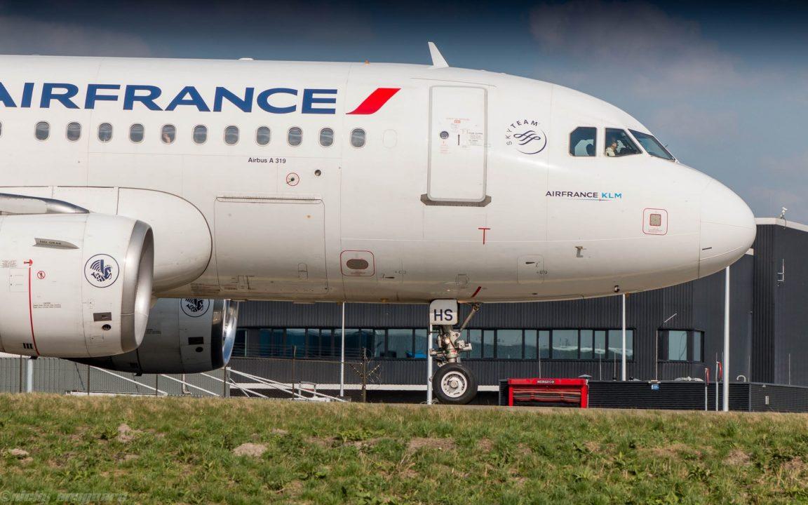 Air France A319 à l'arrivée à Amsterdam