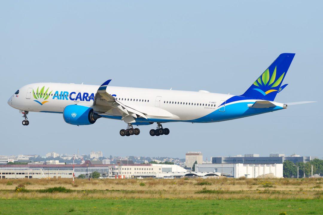 Atterrissage à ORY du F-HNET AIR CARAIBES A350-900 le 20 Aout 2017 avant son départ vers Pointe-à-Pitre