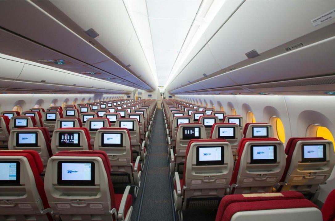 Classe économique en 3:3:3 Hong Kong Airlines sur A350