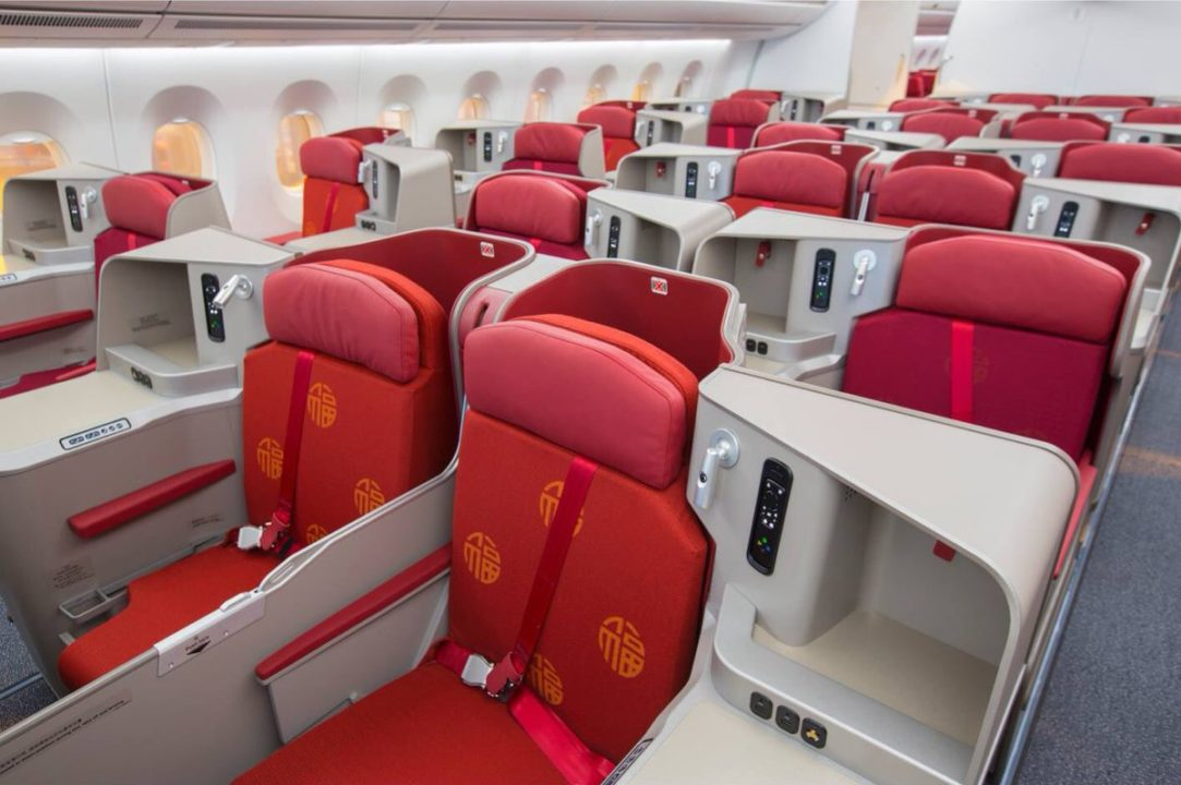 siège Super Diamond en Business Classe Hong Kong Airlines