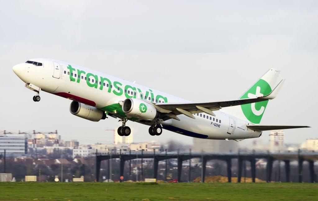 Boeing 737 Transavia au décollage
