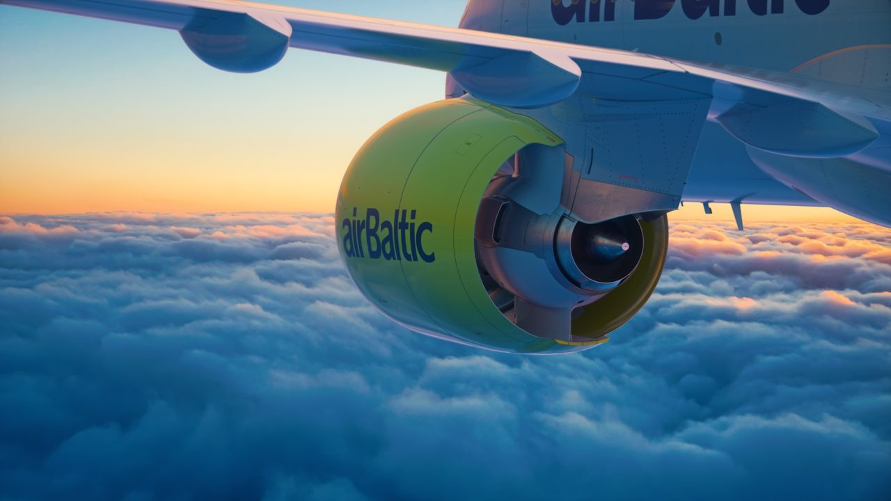 AirBaltic réacteur du Bombardier CS300