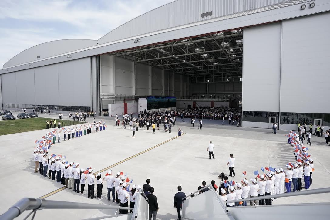 Centre d'Aménagement Commercial et de Livraison A330 à Tianjin, en Chine