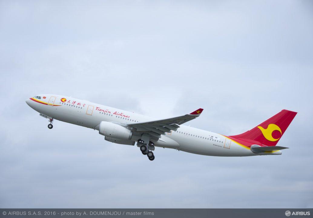 décollage du 1er A330 livré en chine [AC-793]