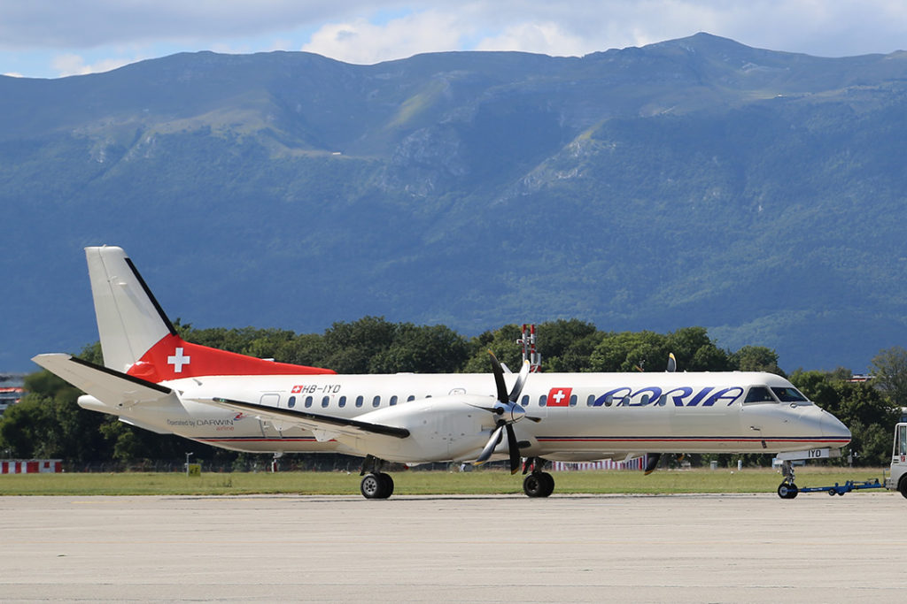 Turbopropulseurs Saab 2000 - Adria Airways Switzerland