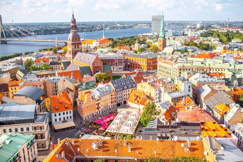 Vue panoramique de la vielle ville de Riga