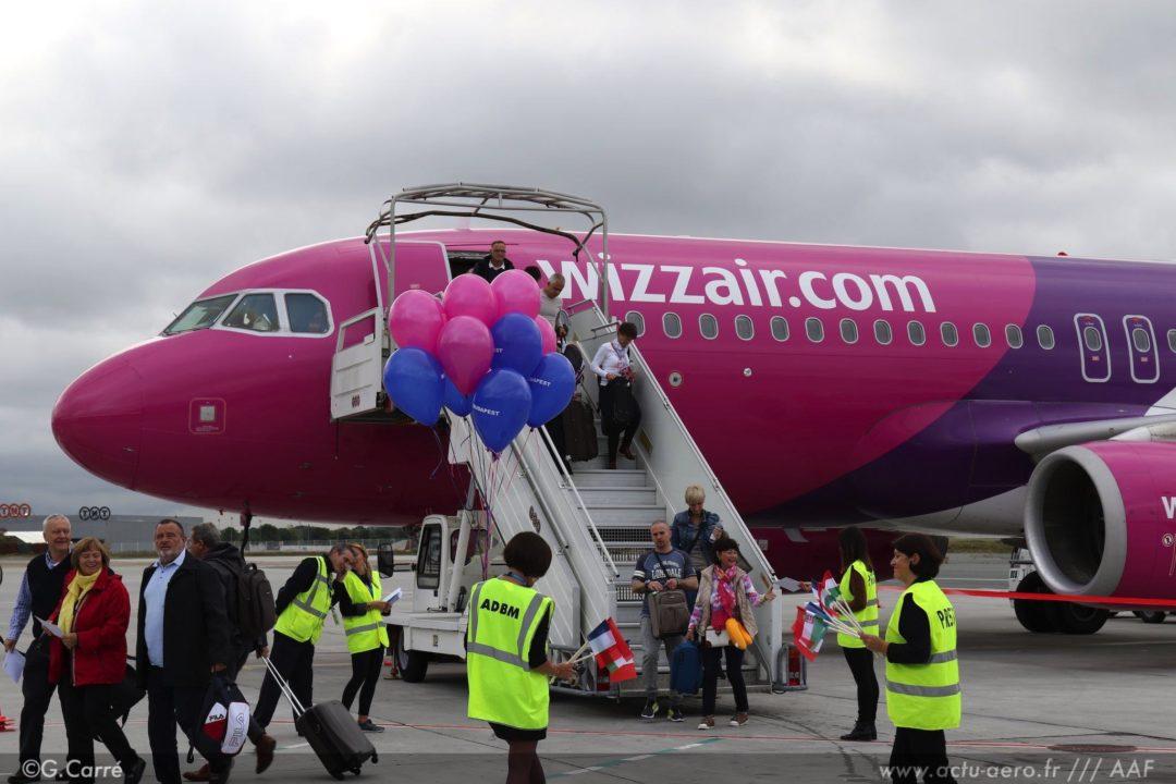 Les premiers passagers WIZZ à Bordeaux