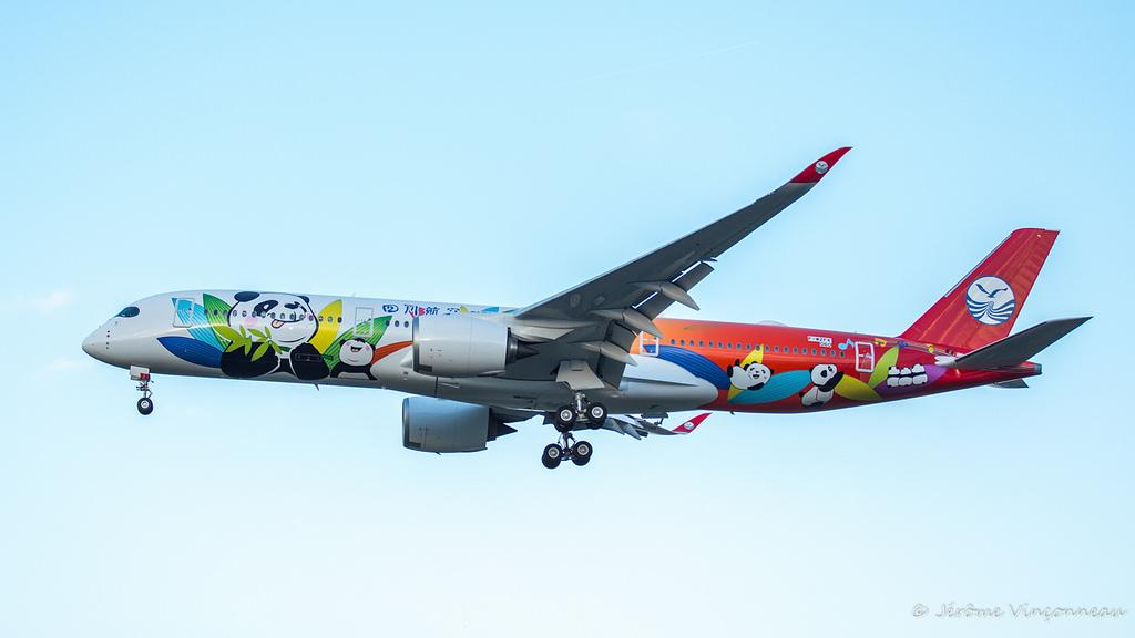 Retour de vol de l'Airbus A350-941 cn 060 F-WZFK Sichuan Airlines