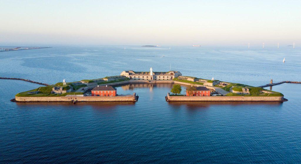 fort de Trekroner dans le port de Copenhague