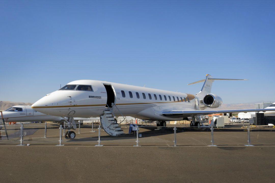 Véhicule de test Global 7000 [FTV4] équipé d'une cabine