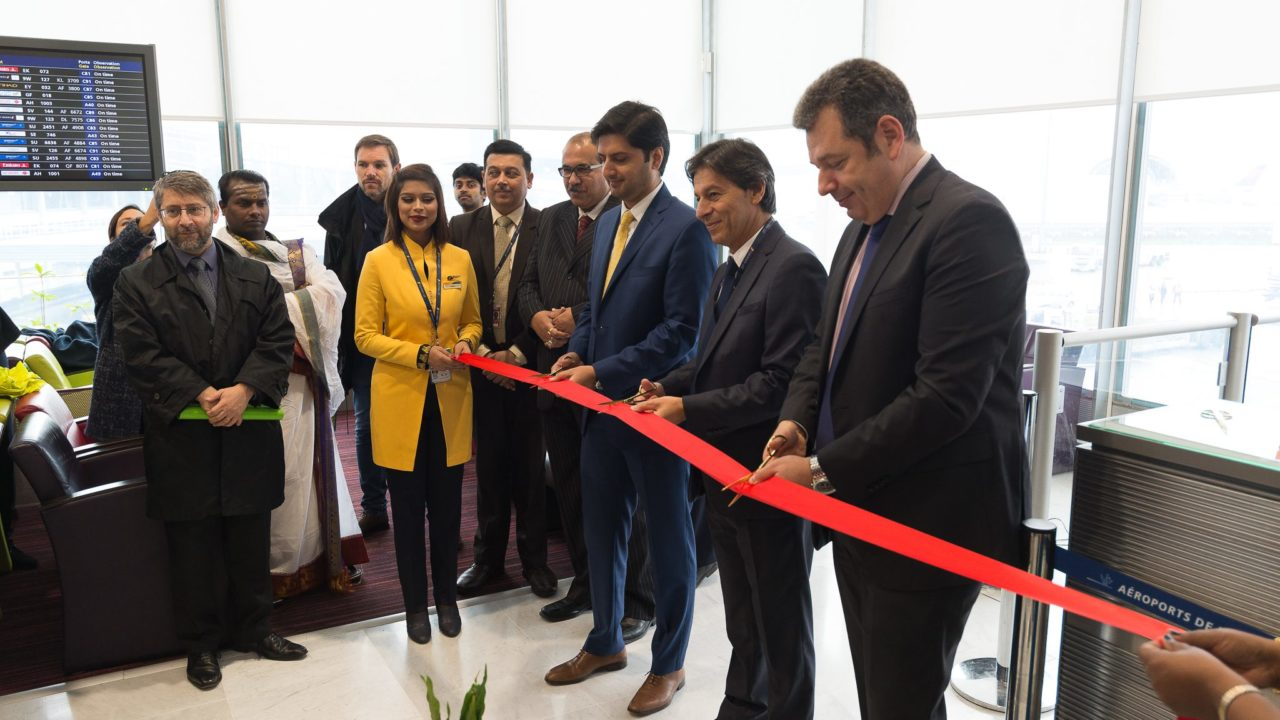 inauguration Jet AIrways Paris - Chennai