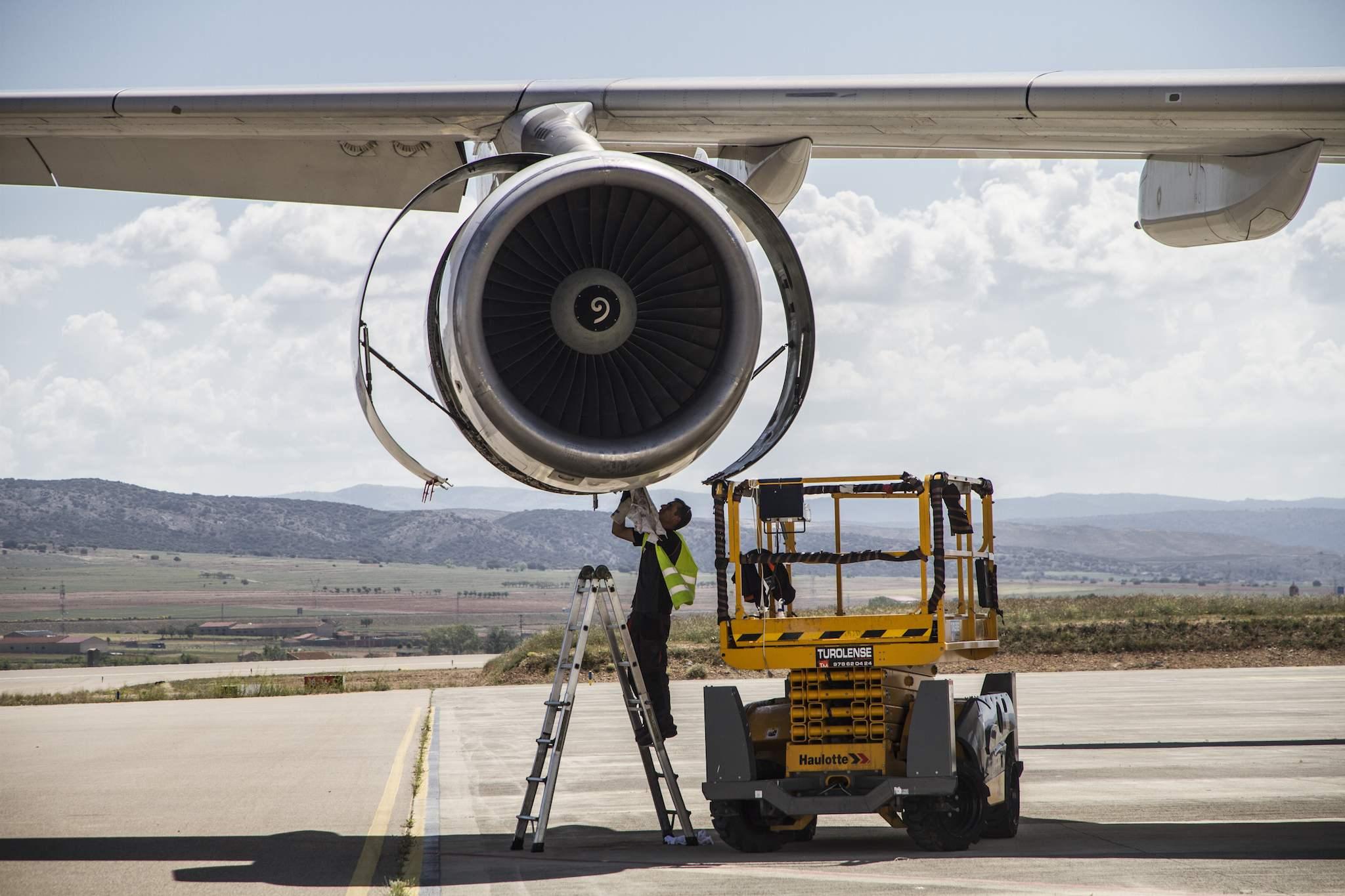 Maintenance moteur à Teruel