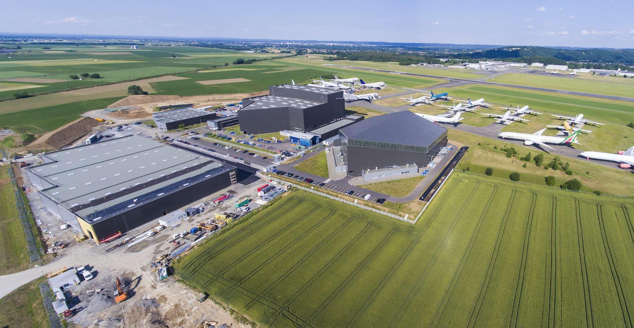vue aérienne du site Tarmac Aerosave de Tarbes