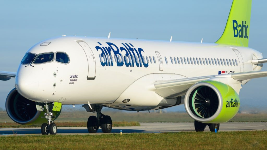 Bombardier CS300 airBaltic YL-CSB